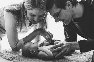Papa, mamá y bebé