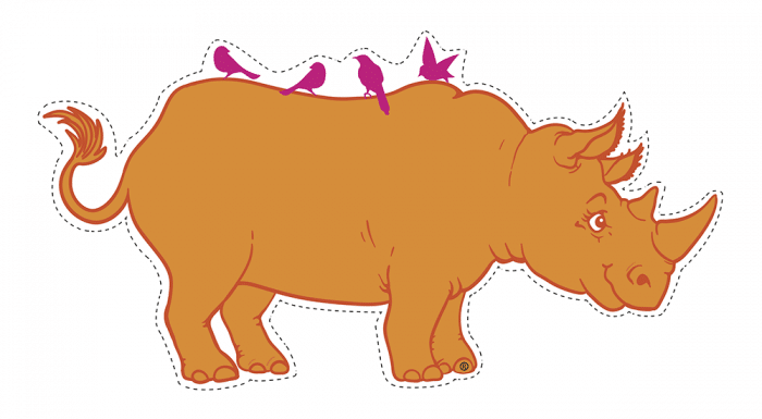 El rinoceronte naranja