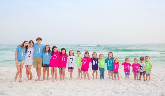 Foto familia 17 primos orden nacimiento