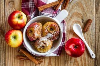 Manzanas asadas horno