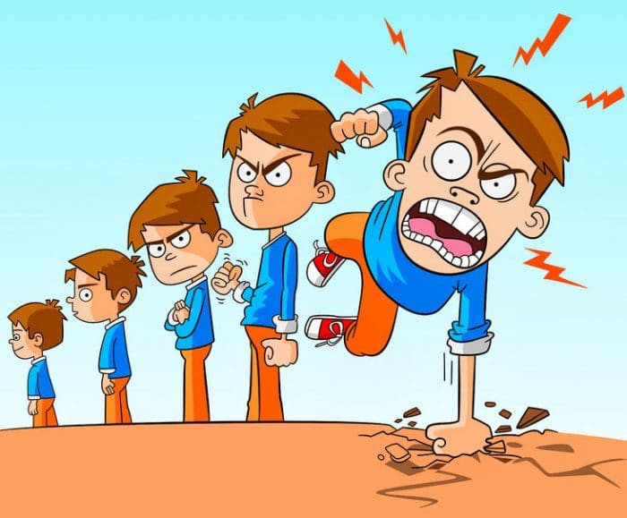 ira reactiva niños