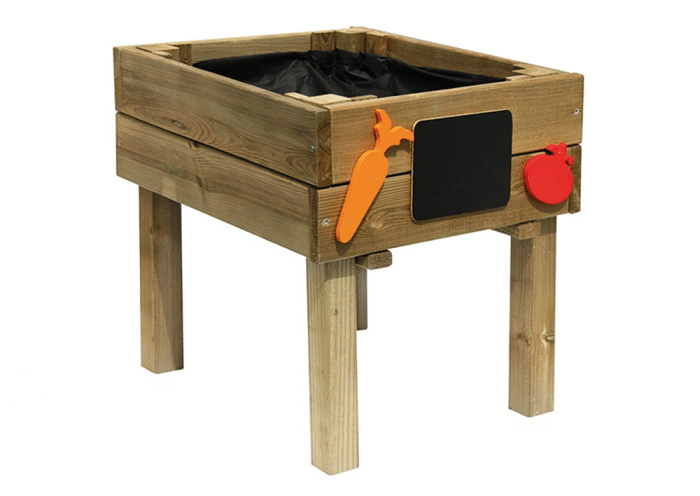 Mesa huerto infantil de madera
