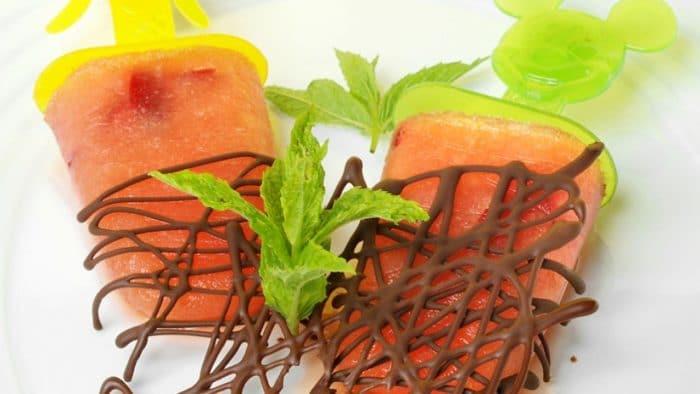 Receta Polo helado de sandía, cereza y melocotón
