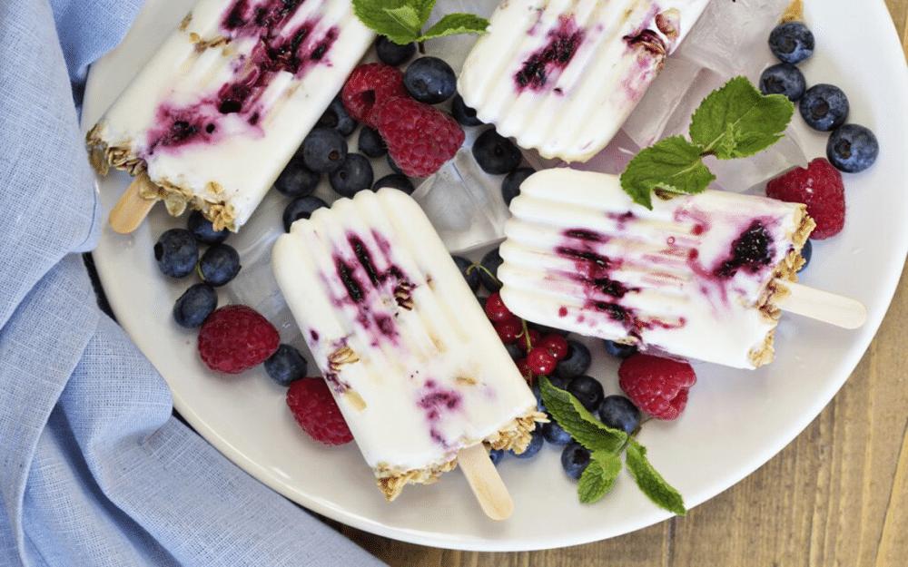 Receta Polo helado de yogurt y arándanos
