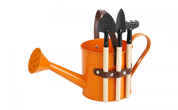 Regadera con utensilios huerto infantil urbano