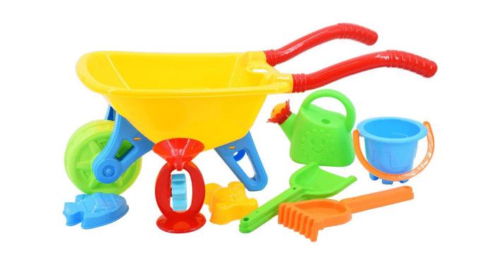 Set de carretilla con accesorios huerto infantil urbano