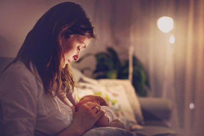 lactancia materna nocturna