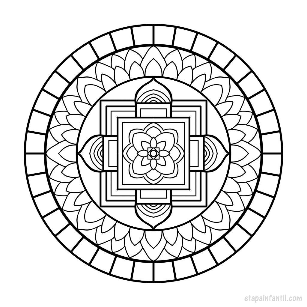 Mandalas f ciles para imprimir y colorear para ni os for Mandalas ninos