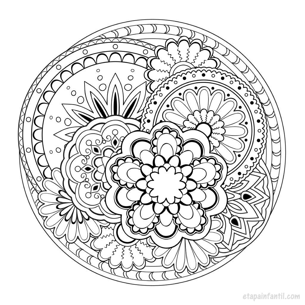 Mandalas para imprimir y colorear 2 - Etapa Infantil
