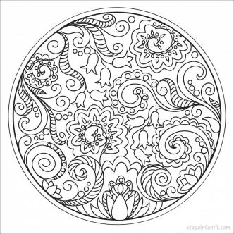 Mandalas imprimir colorear 3