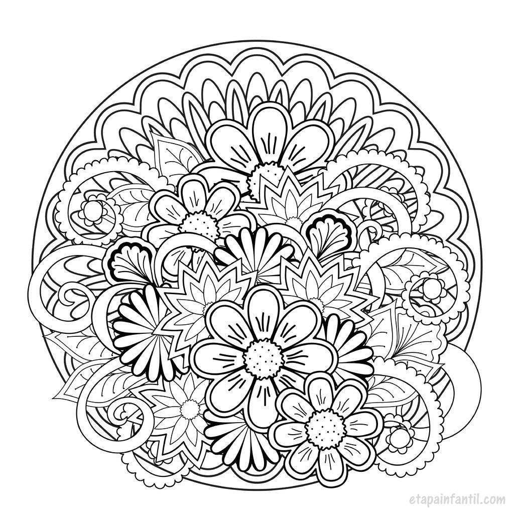 Mandalas para imprimir y colorear para adultos y niños - Etapa Infantil
