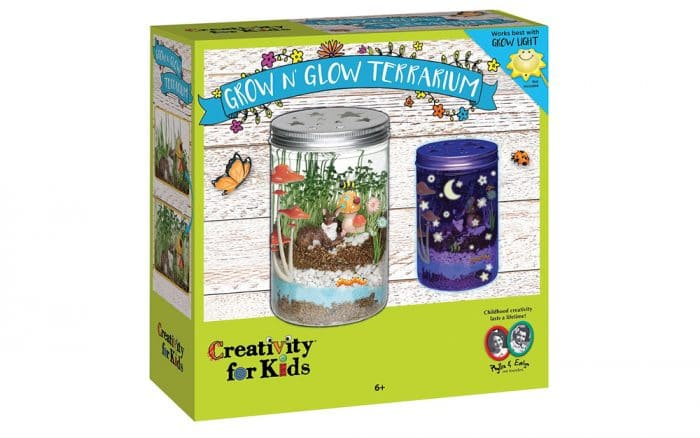 Set de manualidades TDAH Creativity For Kids Grow 'n Glow Terrarium