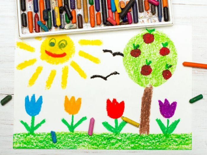 dibujo del arbol dibujo personalidad niño