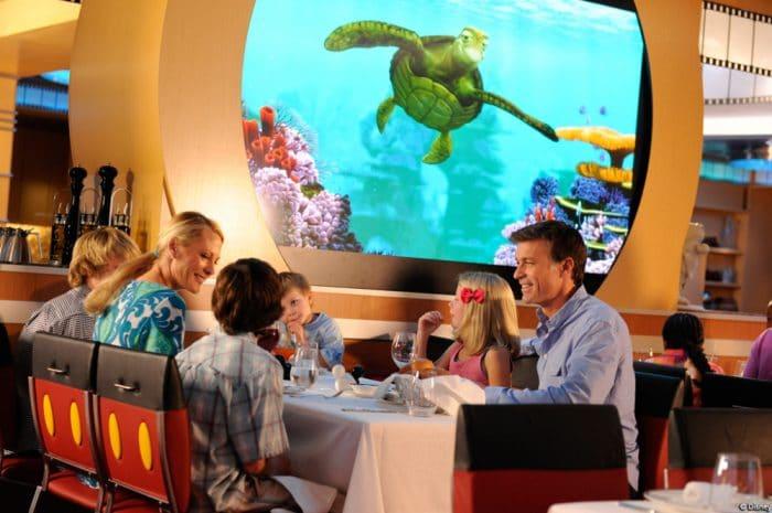 Crucero Disney Mediterraneo restaurantes