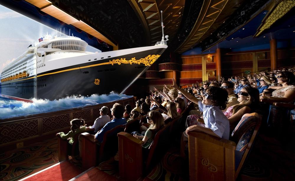 Crucero Disney Wonder Mediterraneo cine