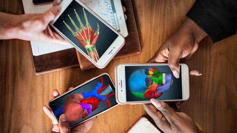 Aplicación educativa Android iOS Anatomy Learning