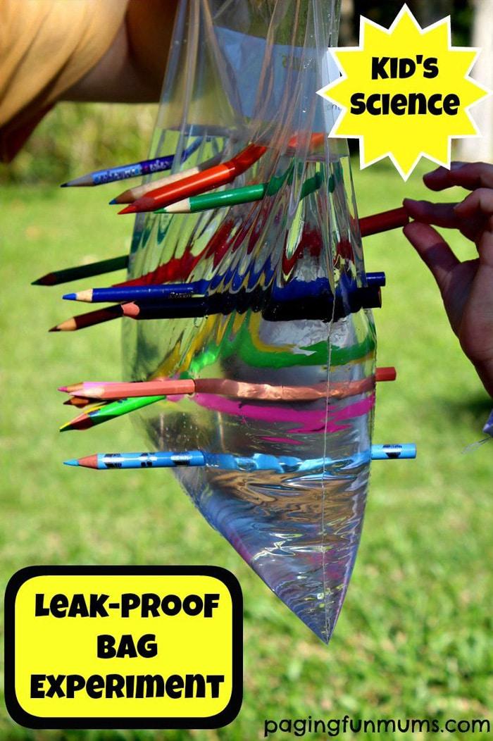 Experimento Bolsa de plástico a prueba de fugas