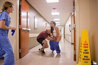 Foto nacimiento pasillo urgencias hospital 2