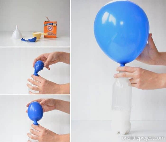 experimento inflando globos