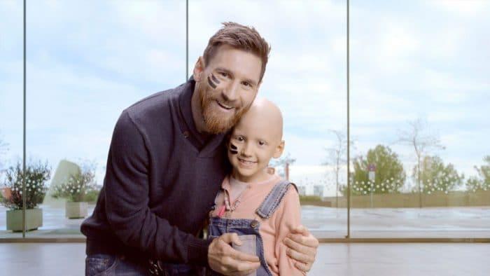 messi hospital niños cáncer