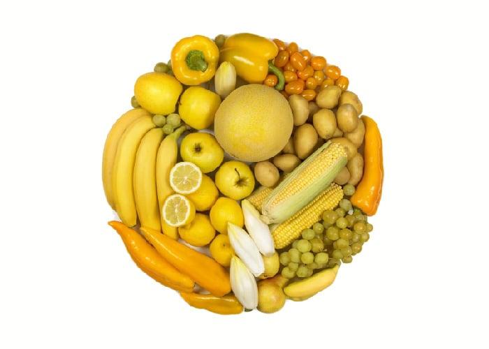 Beneficios frutas verduras amarillas