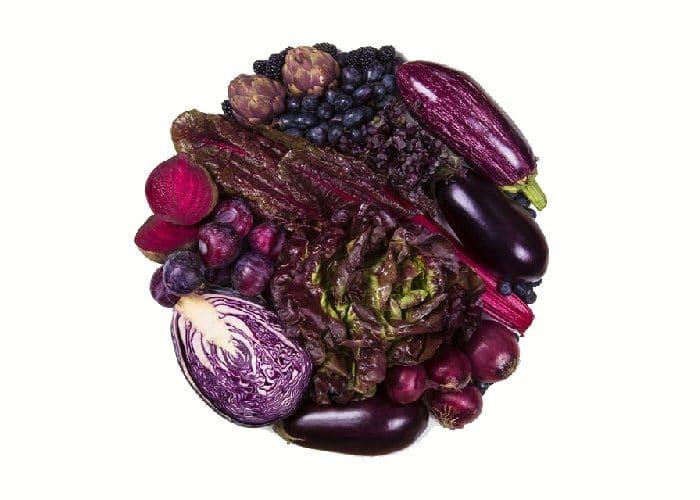 Beneficios frutas verduras moradas