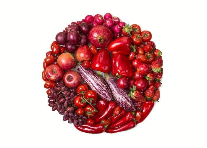 Beneficios frutas verduras rojas