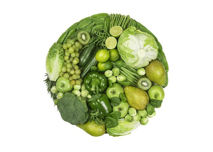 Beneficios frutas verduras verdes