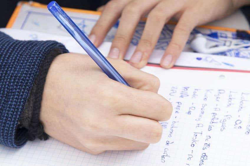 preguntar niño sobre exámen