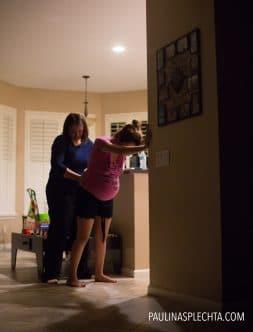 El parto en el coche: Contracciones