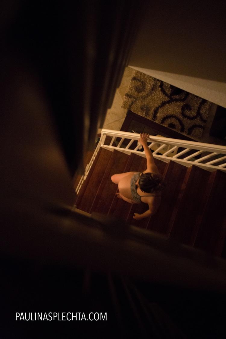 El parto en el coche: Escaleras