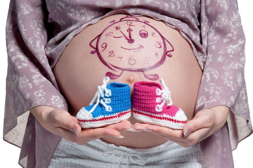 Barriga embarazada pintada sexo niño niña