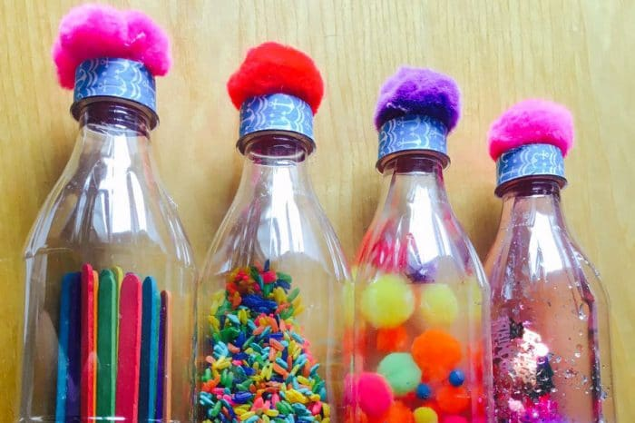 Botellas sensoriales colores