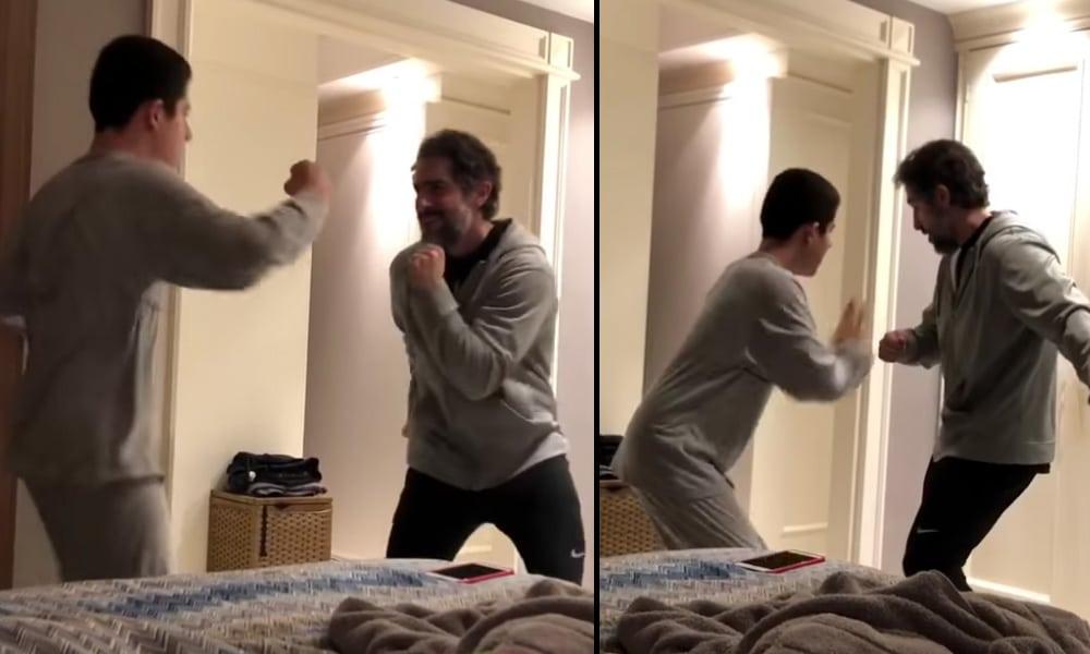 Niño autista bailando con su padre en un vídeo que emociona
