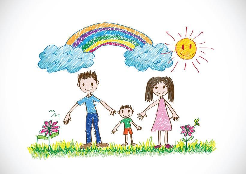 significado dibujos niños familia