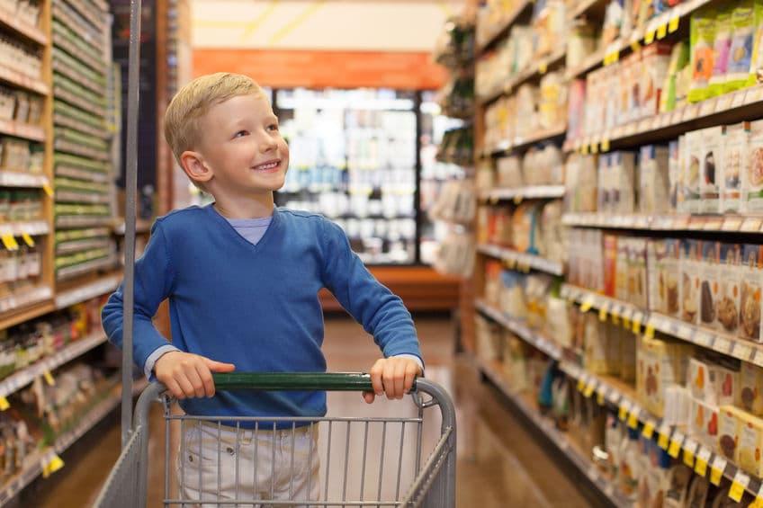 De compras con los niños