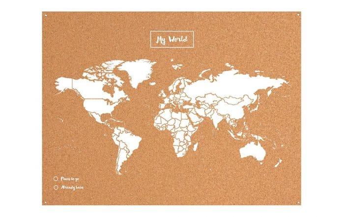 Mapamundi de corcho