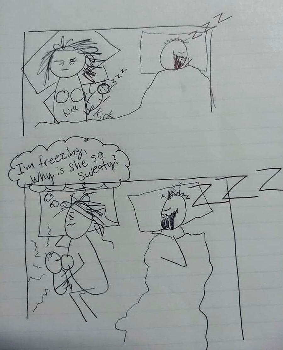 dibujo madre cansada 4