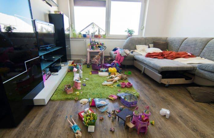 felicidad desorden hogar