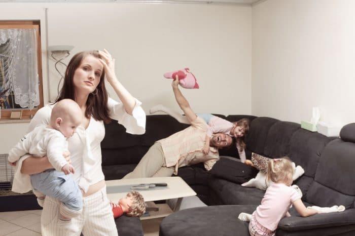 agotamiento estres madre casa