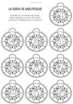 Ficha rueda de multiplicar