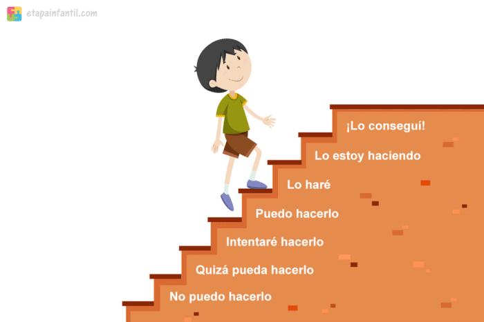 Escalera de motivación para niños