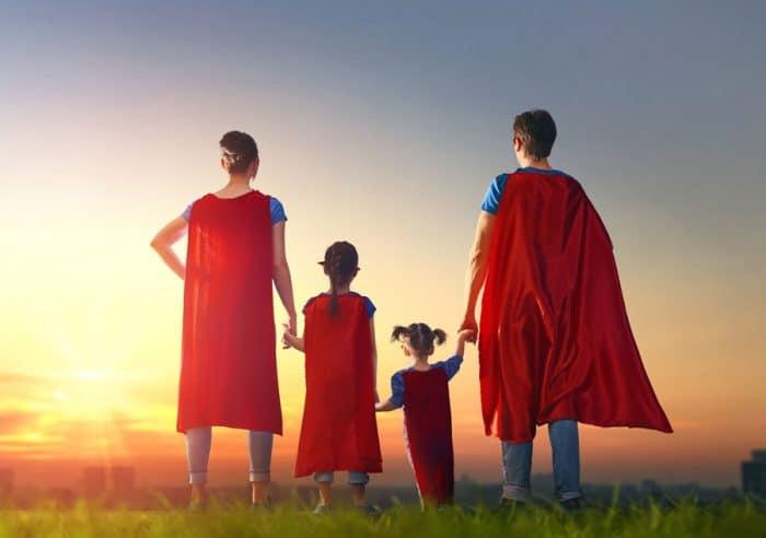 Madre fuerte familia fuerte
