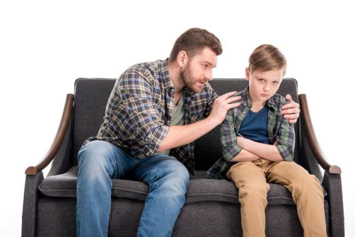 Padre pregunta hijo