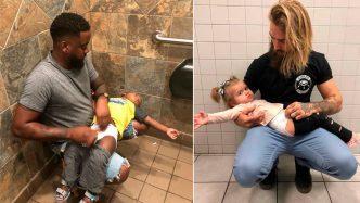 Cambiadores de bebés en baños de hombres