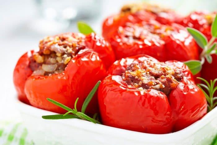 Cena ligera y sana Pimientos rellenos al horno