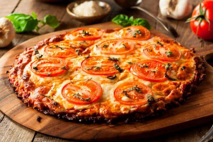 Cena saludable Pizza de coliflor