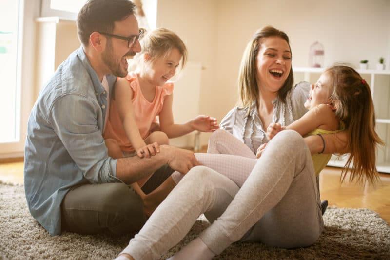 Hijos de padres separados felices