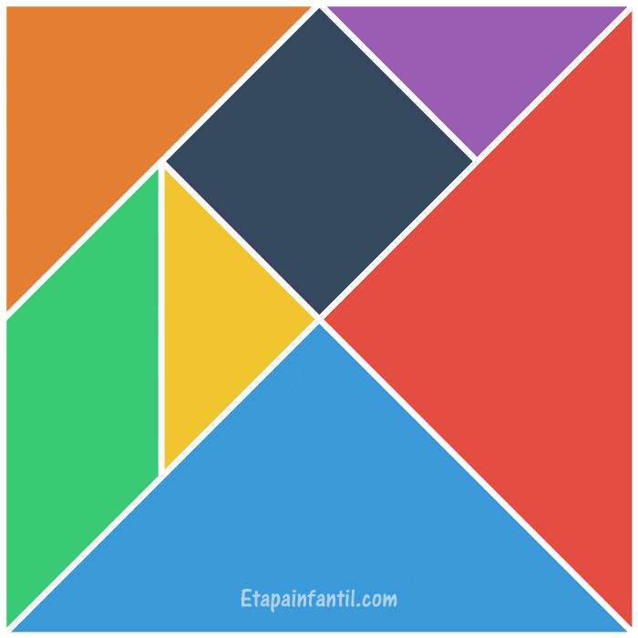 Tangram para imprimir a color