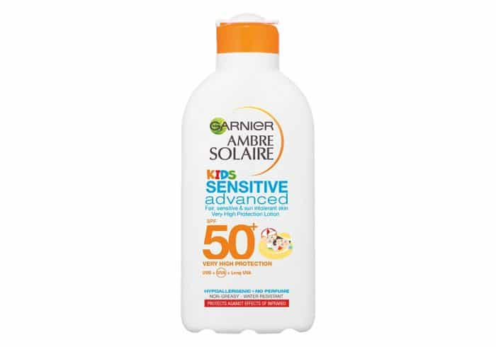 Crema solar Garnier Ambre Solaire Niños Sensitive Advanced SPF 50+